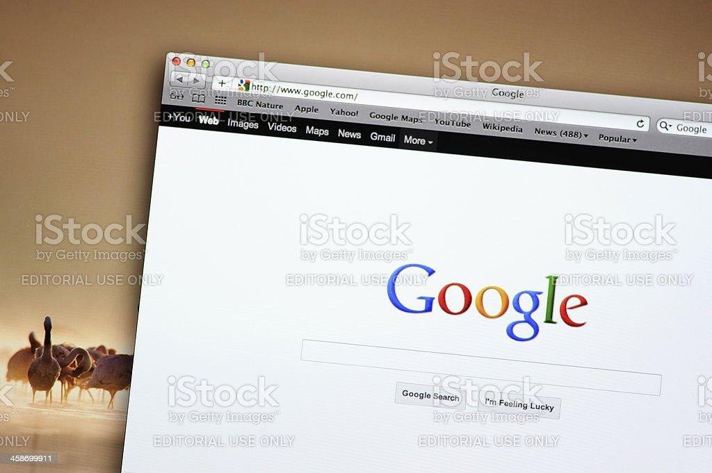 Google search web site royalty-free stock photo