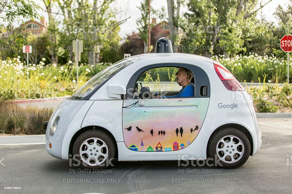 Google Self Driving Car stock photo