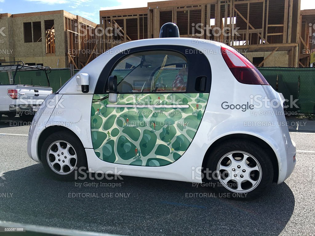 Google self-driving car stock photo