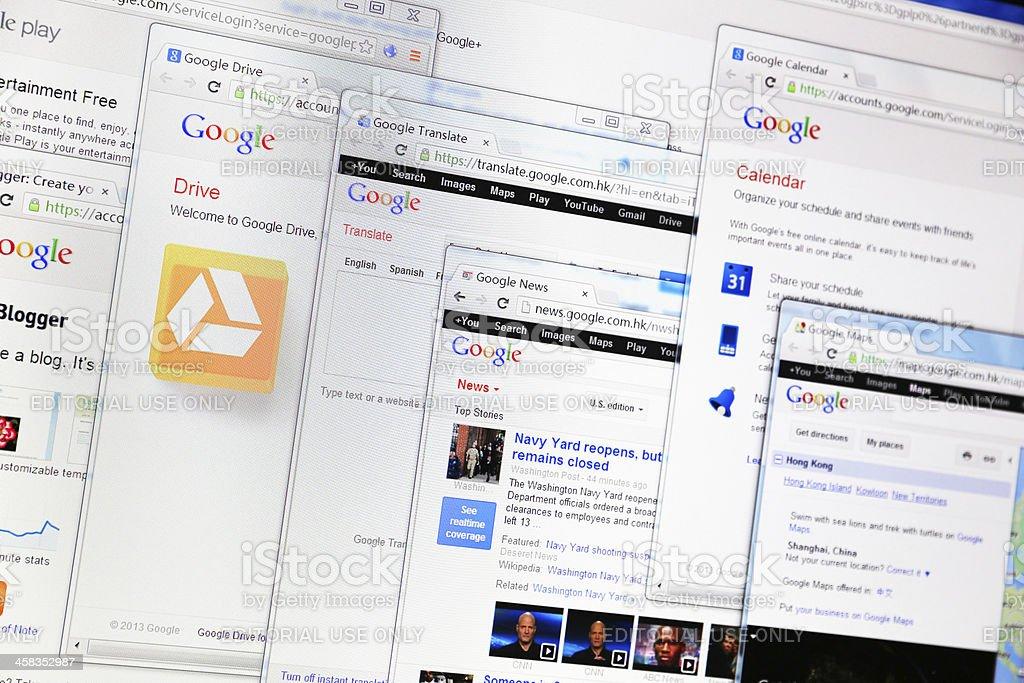 Google Services stock photo