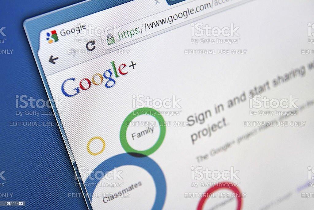 Google+ Social Network royalty-free stock photo