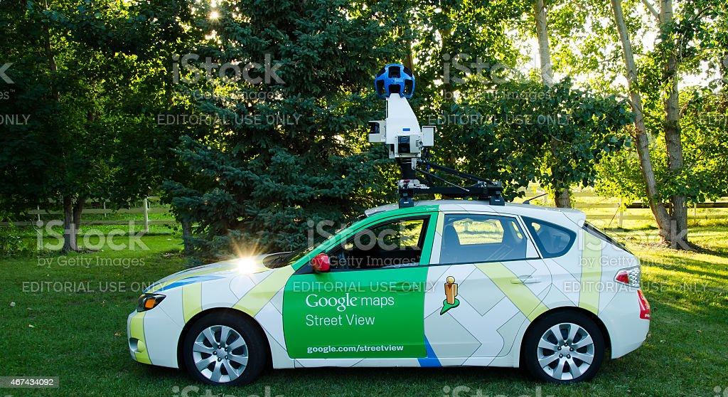 Google street view camera car stock photo