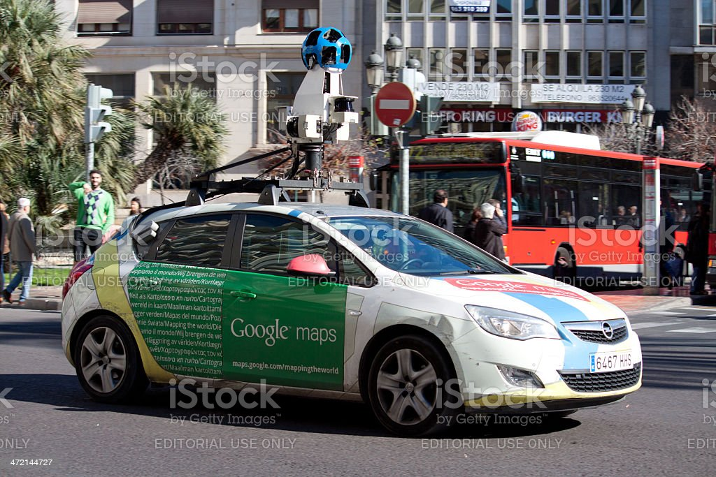 Google Street View Car stock photo