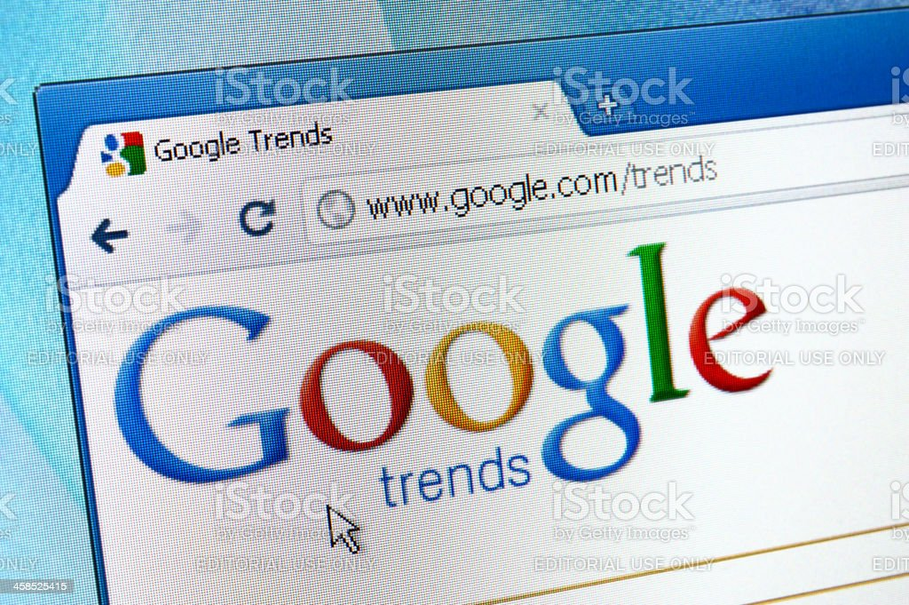 Google Trends webpage on the browser royalty-free stock photo