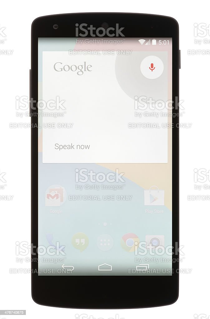 Google Voice Commands stock photo