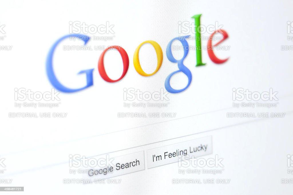 Google Website royalty-free stock photo