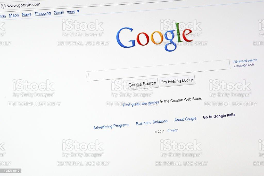 Google.com Search Engine stock photo