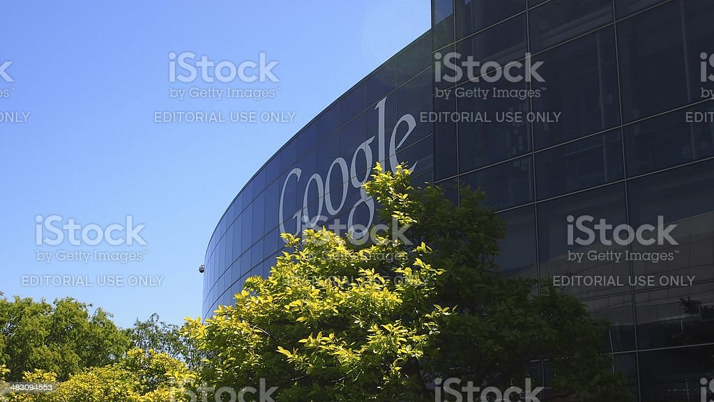 Googleplex in Silicon Valley stock photo