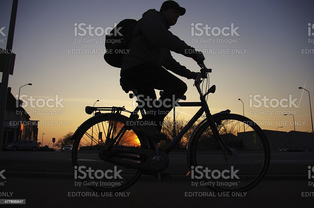 Gooing home out of work royalty-free stock photo