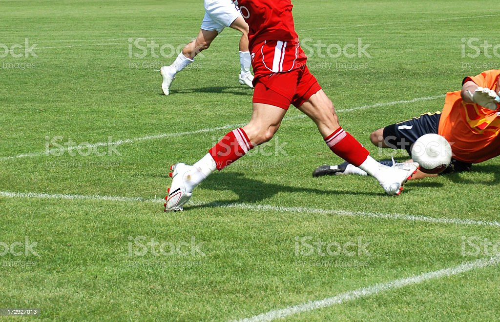 goolkeeper in action royalty-free stock photo