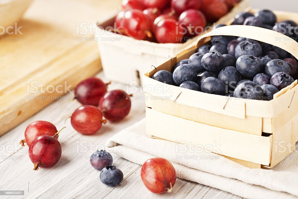 goose berries and blackberries royalty-free stock photo