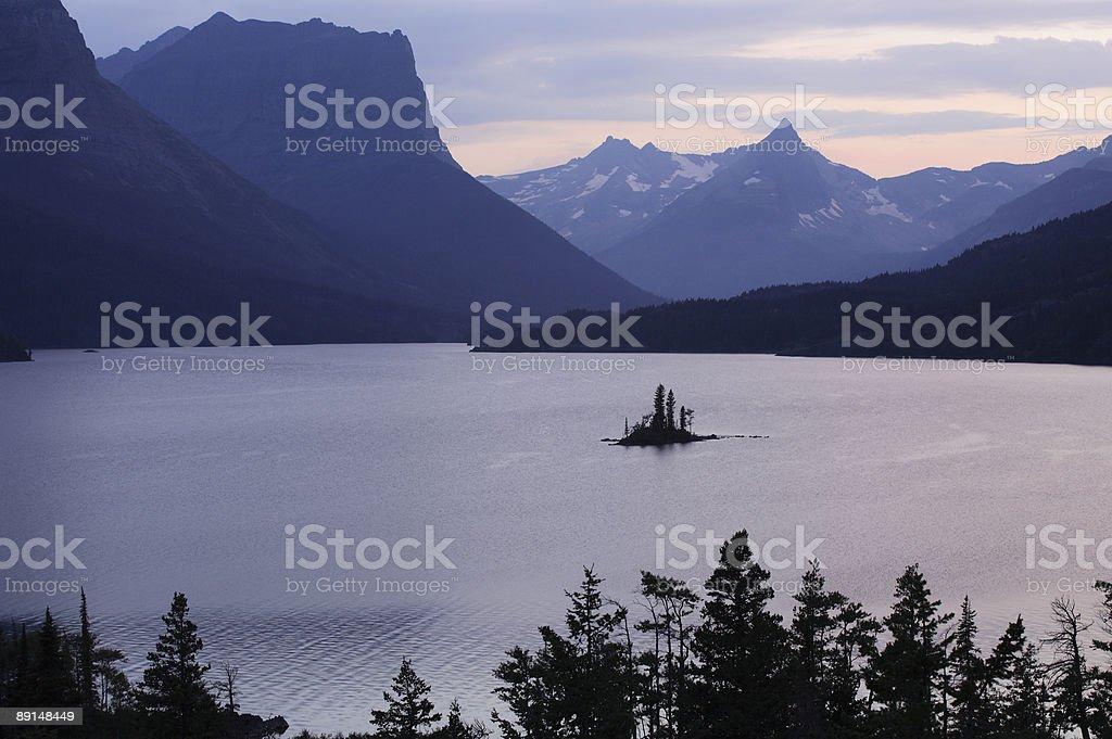Goose Island at Twilight royalty-free stock photo