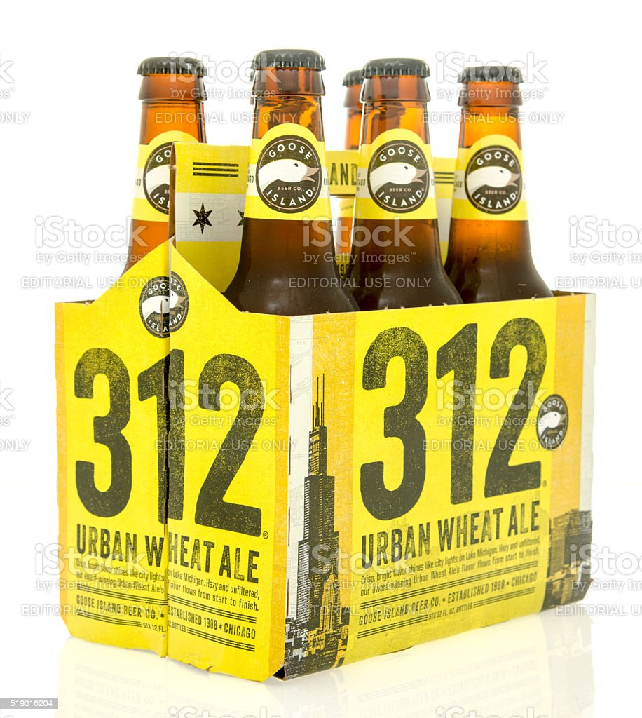 Goose Island beer stock photo