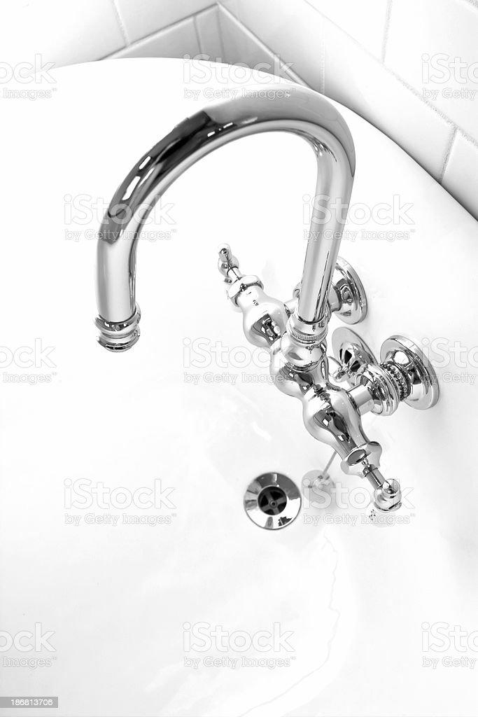 Goose Neck Bath Faucet royalty-free stock photo