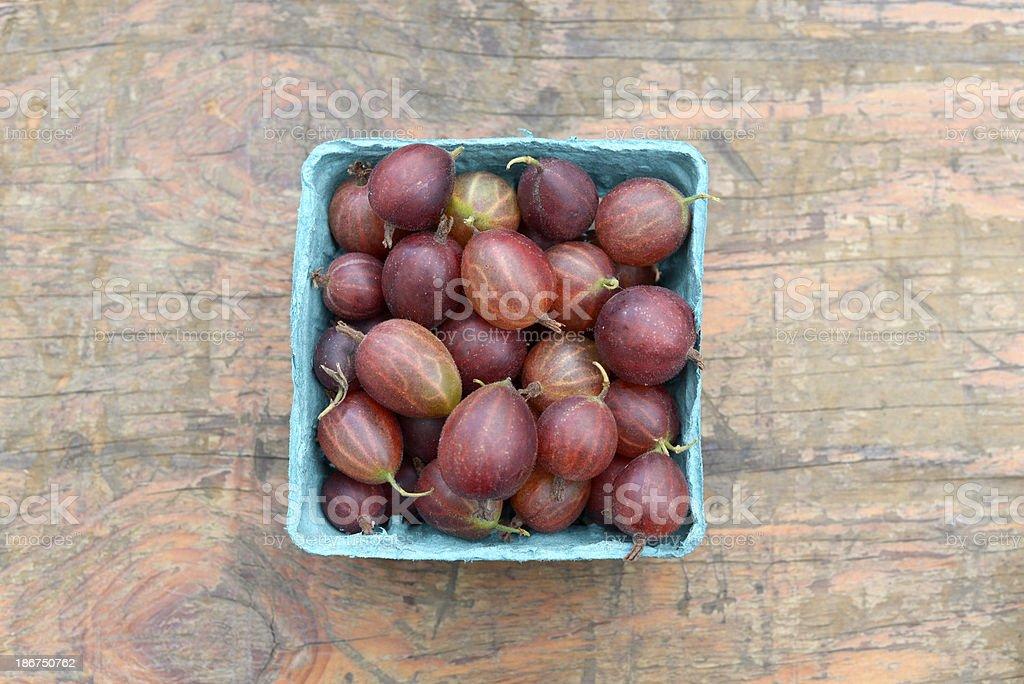 Gooseberries at Farmer's Market royalty-free stock photo