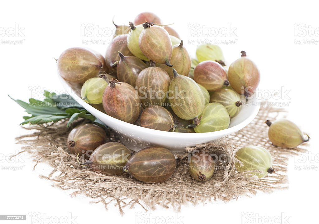 Gooseberries isolated on white royalty-free stock photo