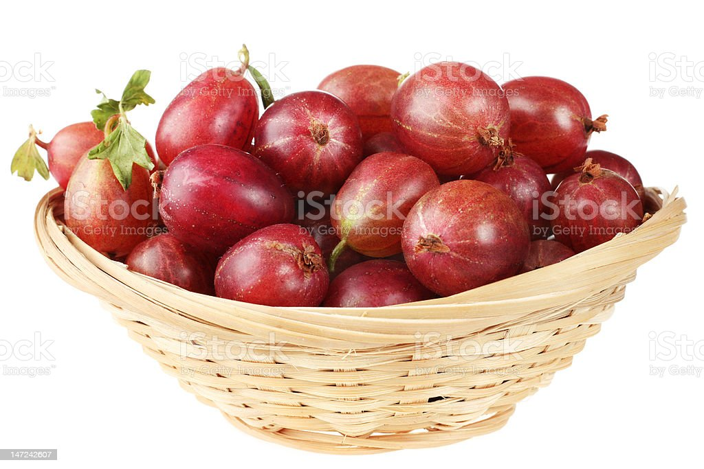 Gooseberry in basket royalty-free stock photo