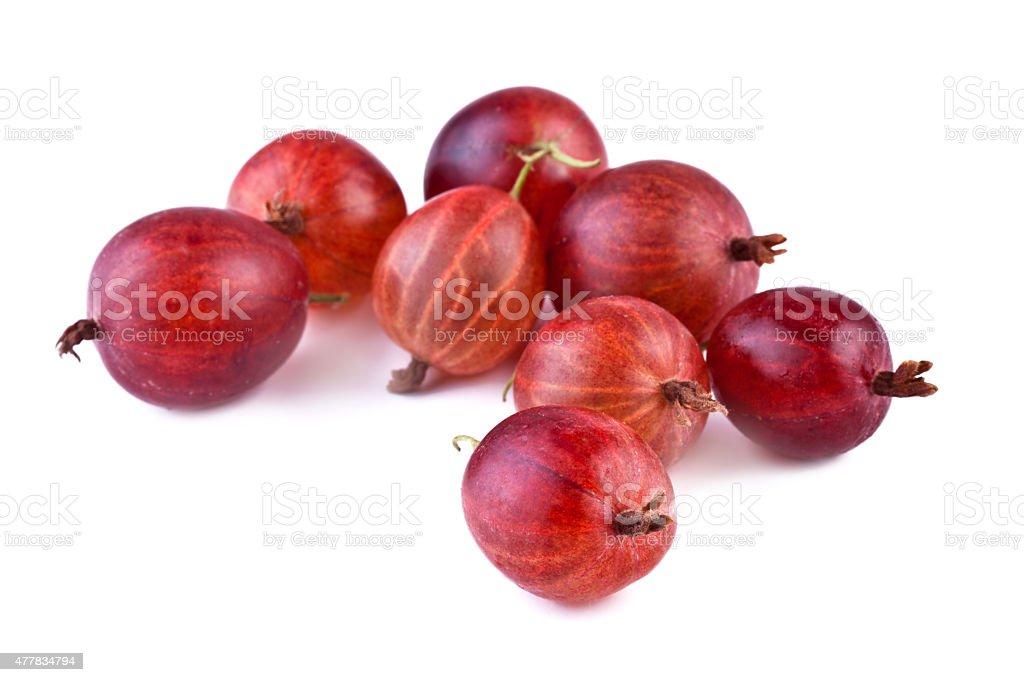 Gooseberry on white background stock photo