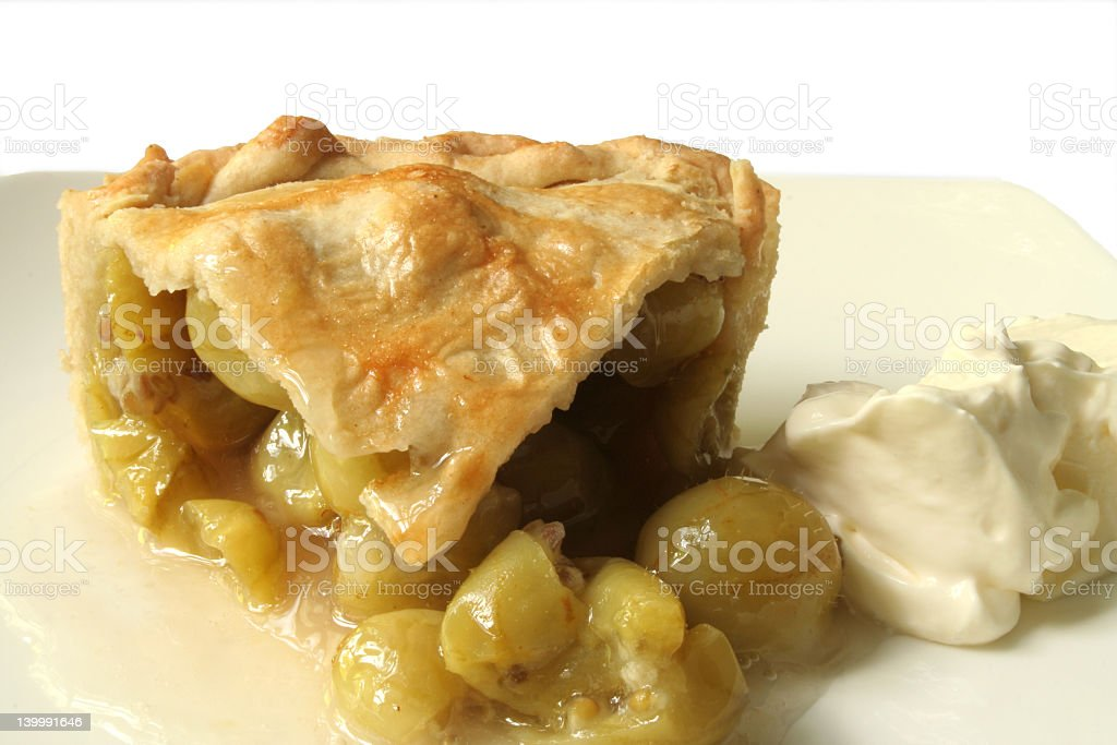 gooseberry pie stock photo