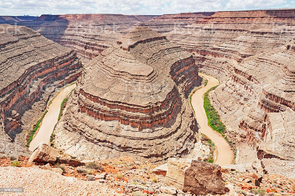 Gooseneck State Park Utah the actions of millions of years stock photo