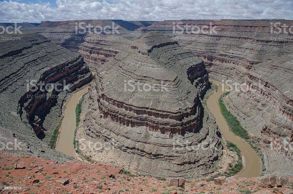 Goosenecks Canyon in Utah stock photo
