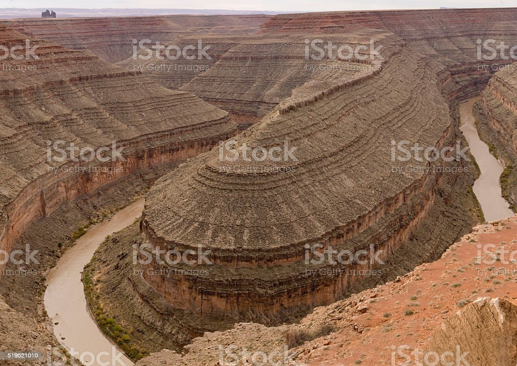 Goosenecks National Park in Arizona stock photo