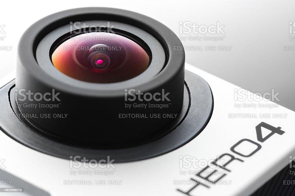 Varna, Bulgaria - May 28, 2015: GoPro Hero 4 Black stock photo
