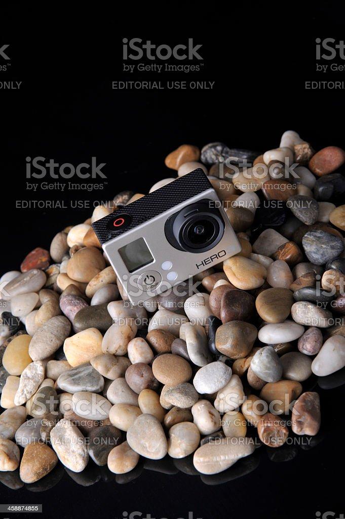 GoPro Hero3 Silver Edition Action Camera royalty-free stock photo