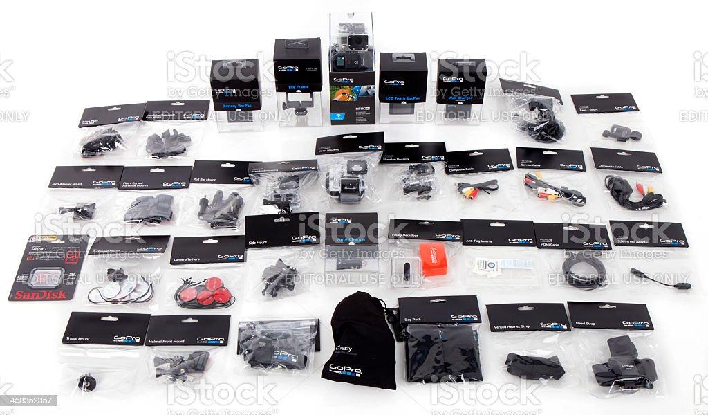 GoPro Product Line stock photo