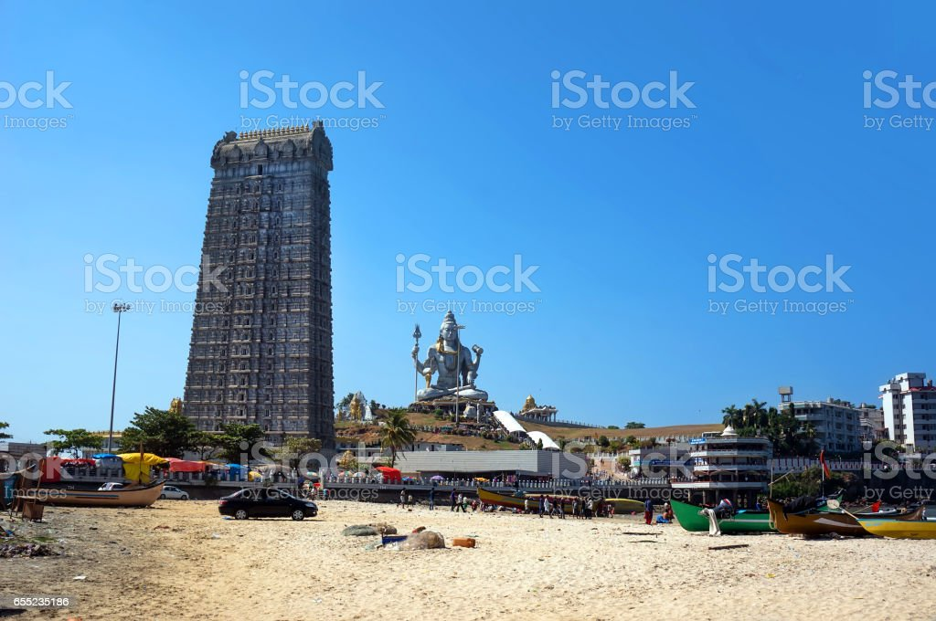 Gopura of Murudeshwar Temple stock photo
