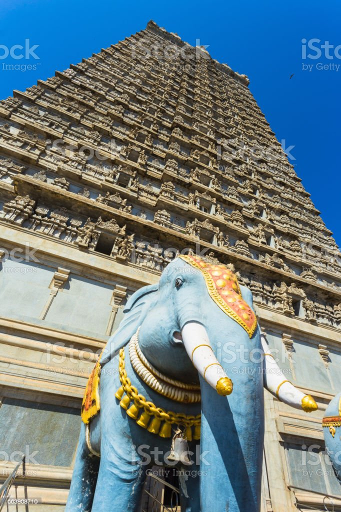 Gopuram of Murudeshwar Temple stock photo