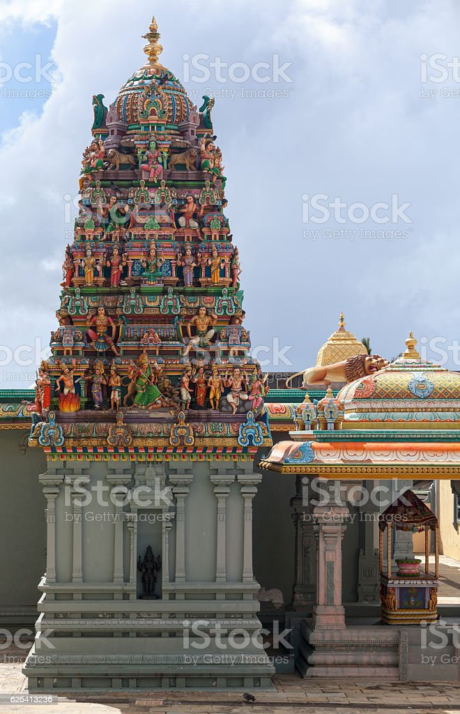 Gopuram of the Shri Maha Kali temple stock photo
