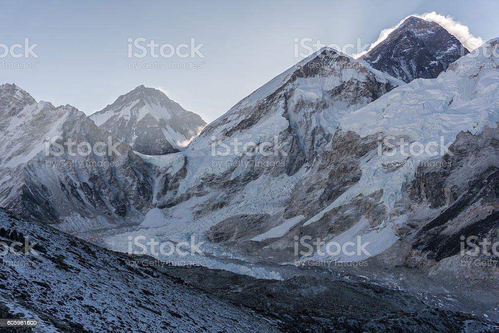 Gorak Shep to Kala Patar, Nepal stock photo