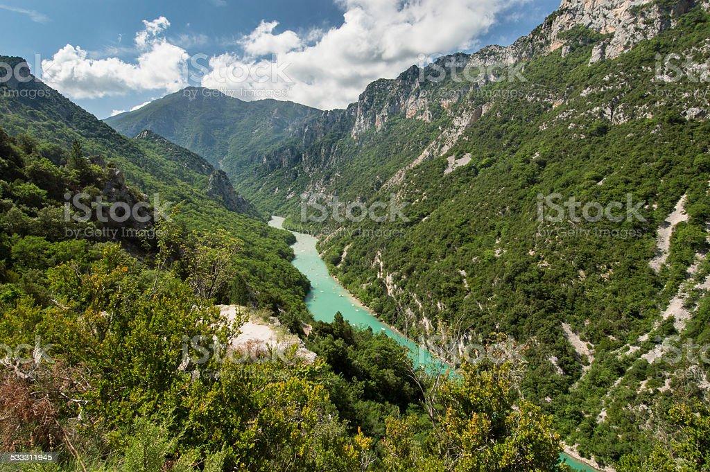 Gorde du Verdon in Provence region, France stock photo