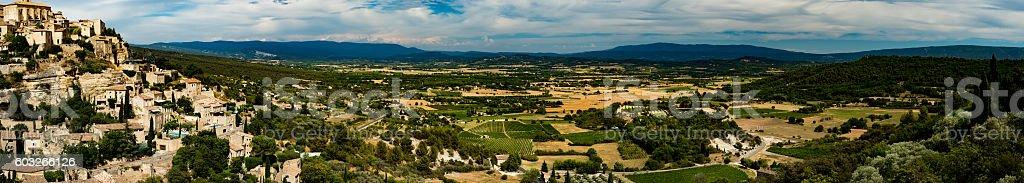 Gordes, Provence panorama stock photo