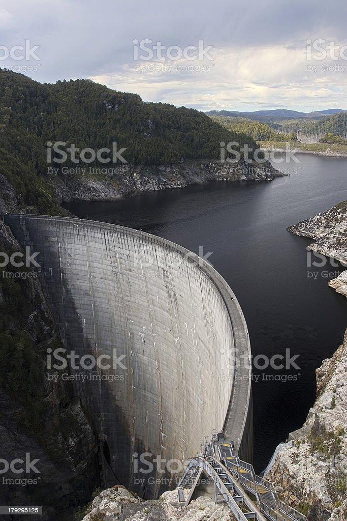 Gordon Dam, Tasmania stock photo