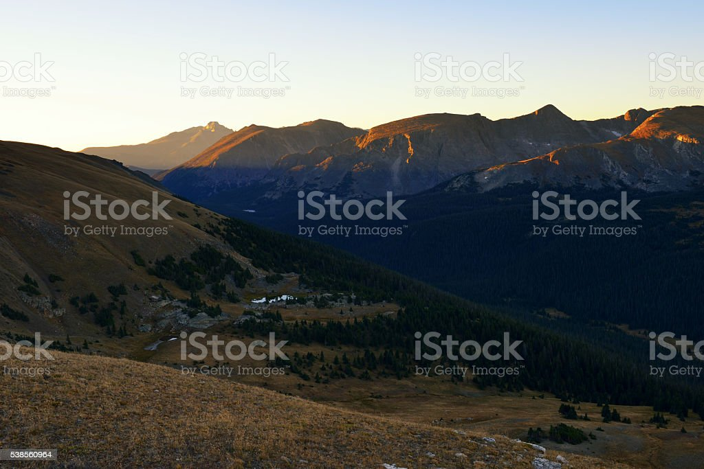 Gore Range at Sunrise stock photo
