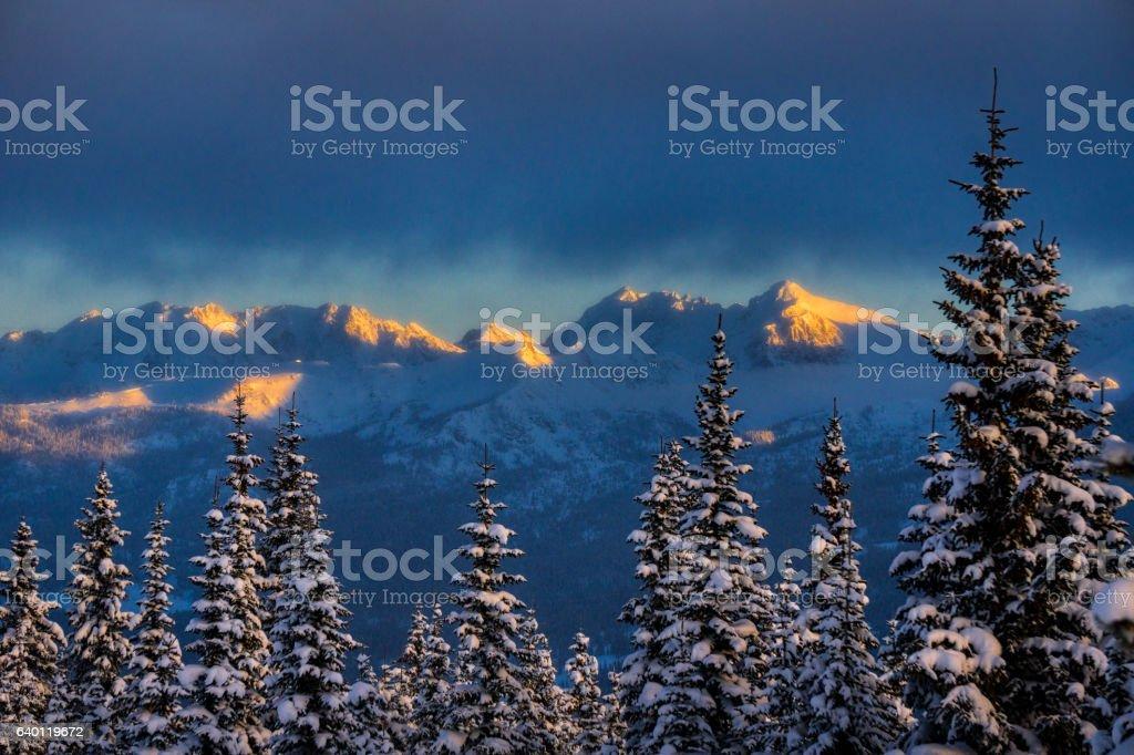 Gore Range Landscape Winter stock photo