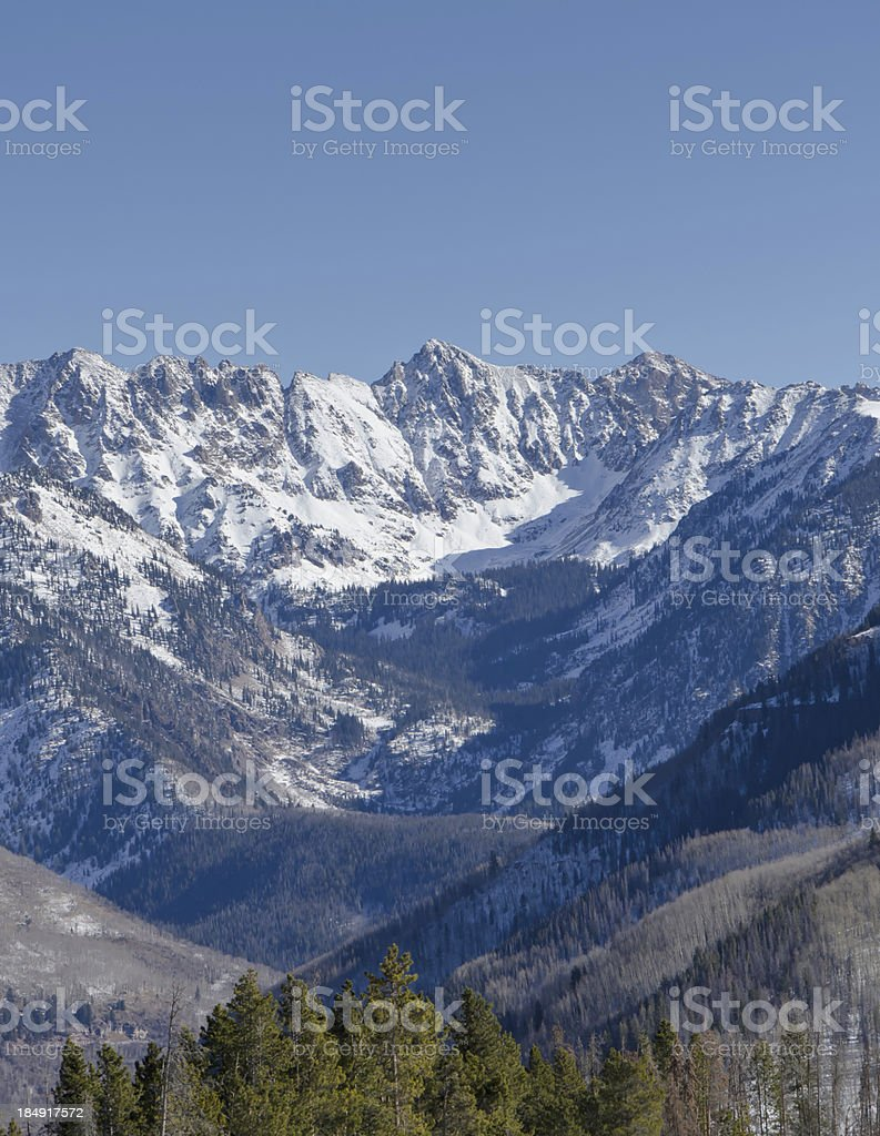 Gore Range Mountains from Vail stock photo