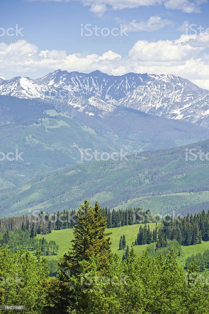 Gore Range Mountains in Summer Colorado USA stock photo