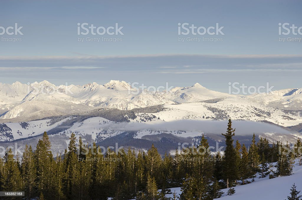 Gore Range Mountains Winter Landscape royalty-free stock photo