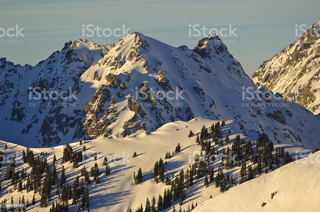 Gore Range Mountains Winter Landscape royalty-free stock photo