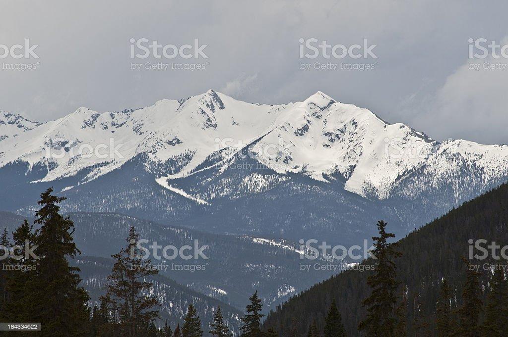 Gore Range Snow stock photo