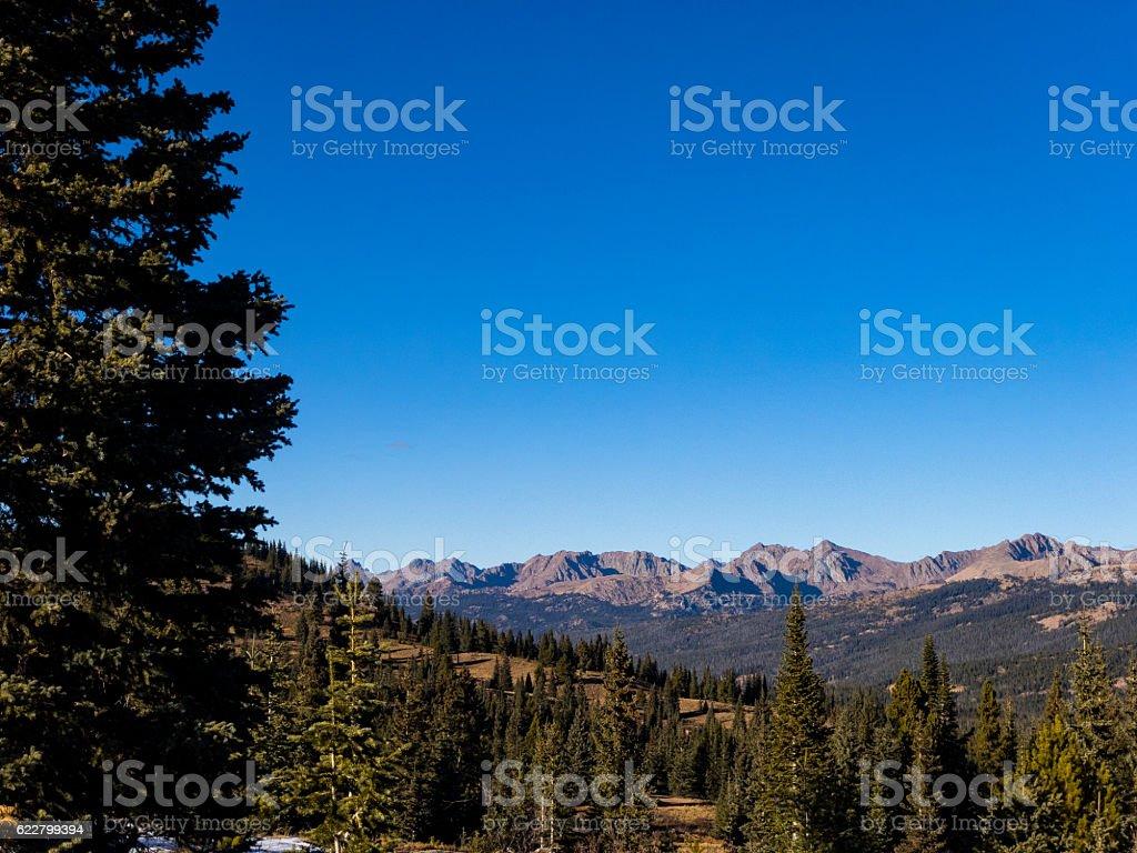 Gore Range Vail Colorado USA stock photo