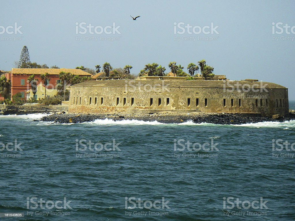 Goree Island Fortress Slave Entrepot Dakar Senegal West Africa stock photo