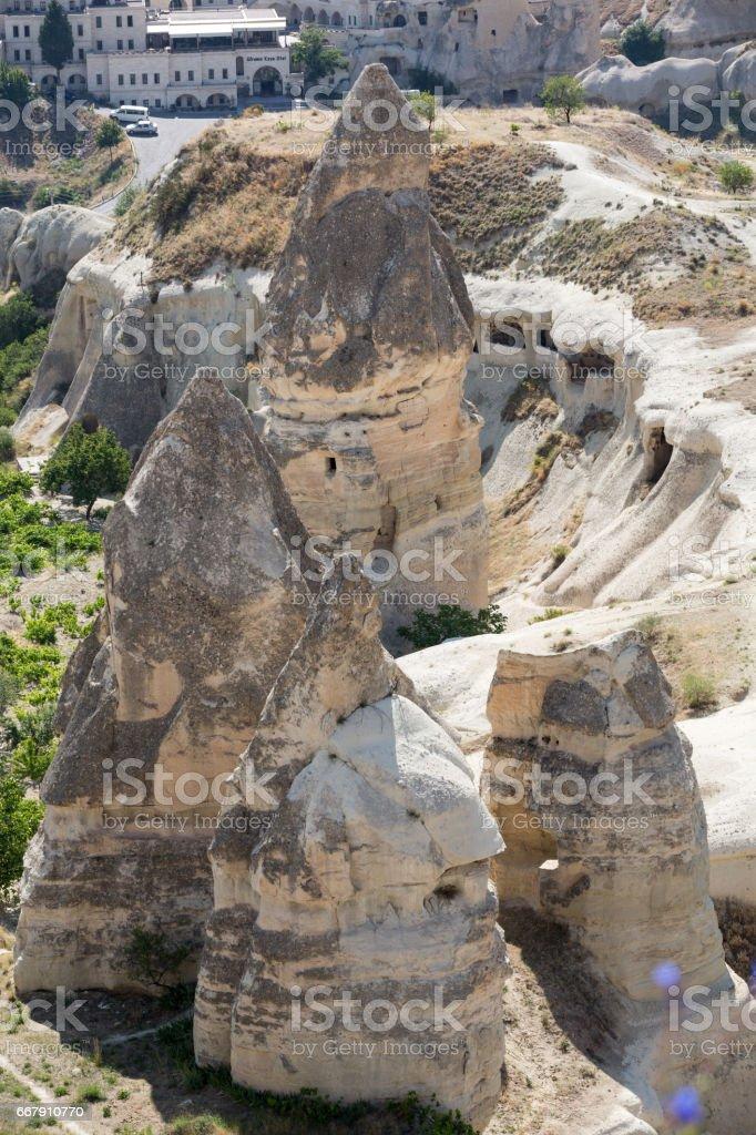 Goreme National Park. Cappadocia in Turkey stock photo