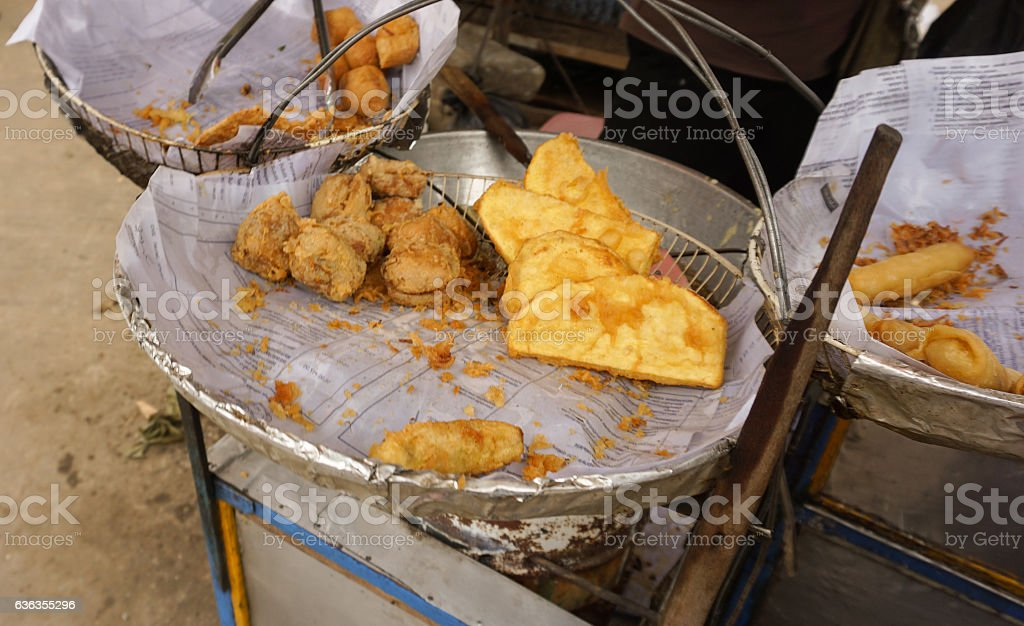 Gorengan is very common in Indonesia for everyday meals photo stock photo