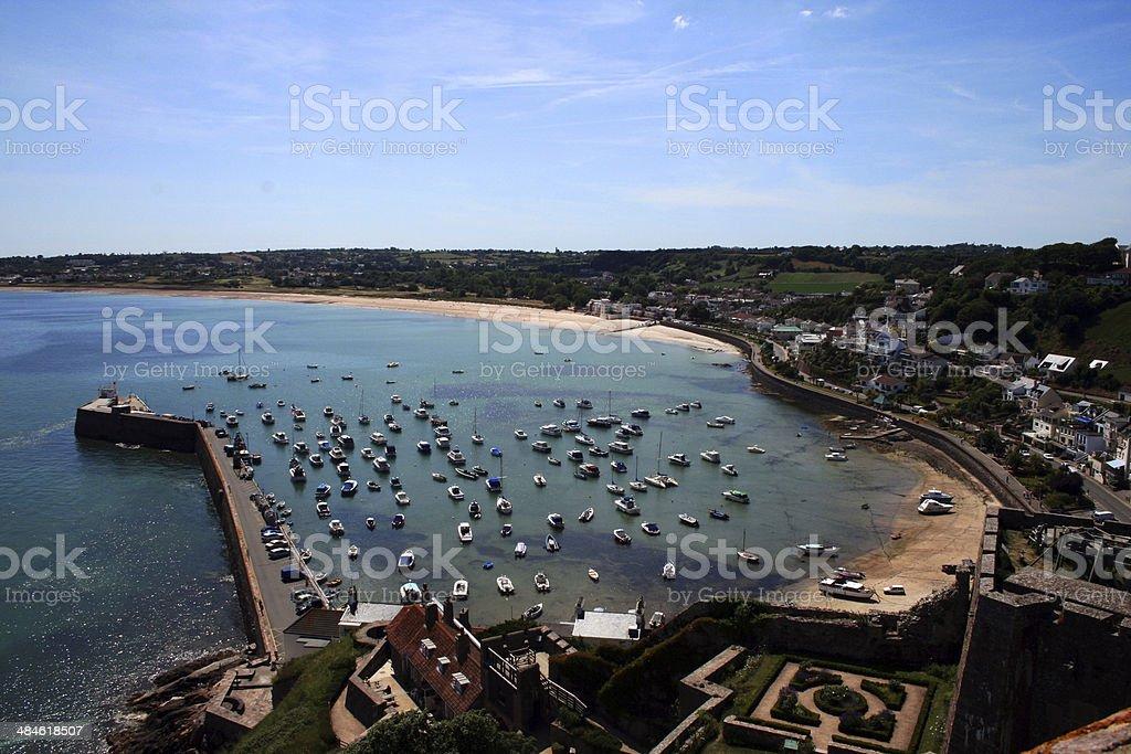 Gorey Bay - Jersey - United Kingdom stock photo