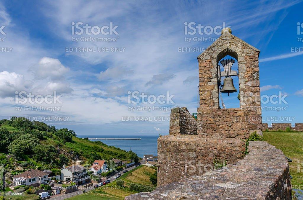 Gorey Castle, Jersey, Channel Islands stock photo