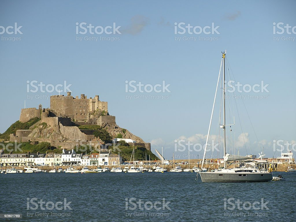 Gorey Castle ,Jersey. royalty-free stock photo